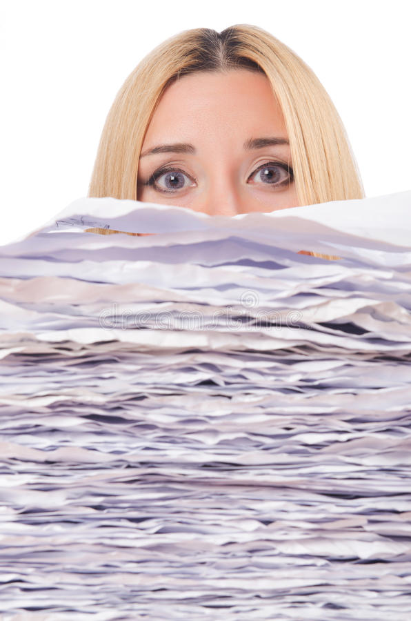 Download Woman with   papers stock image. Image of papers, office - 28785517