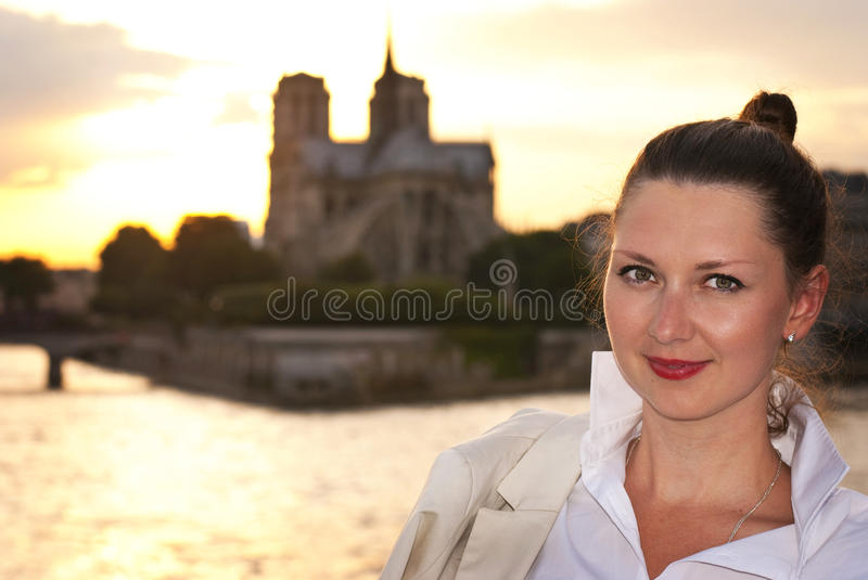 Download Woman in Paris stock photo. Image of europe, background - 31788796