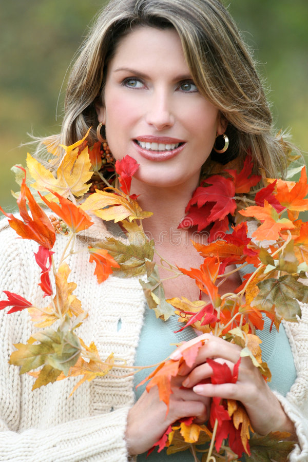 Download Woman In A Park, Fall, Seasonal Theme Stock Images - Image: 7221714