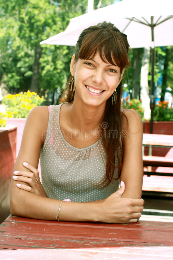 Woman in the park. Woman in a park naprvlena browsing on Photographer royalty free stock images