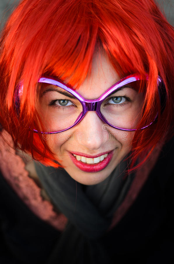 Woman in party costume royalty free stock photography
