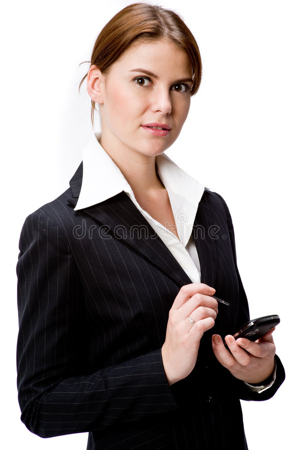 Download Woman With PDA stock photo. Image of professional, device - 4842470