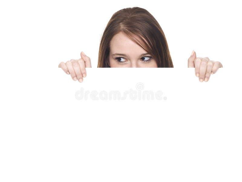 Woman - Peeking Side stock photos