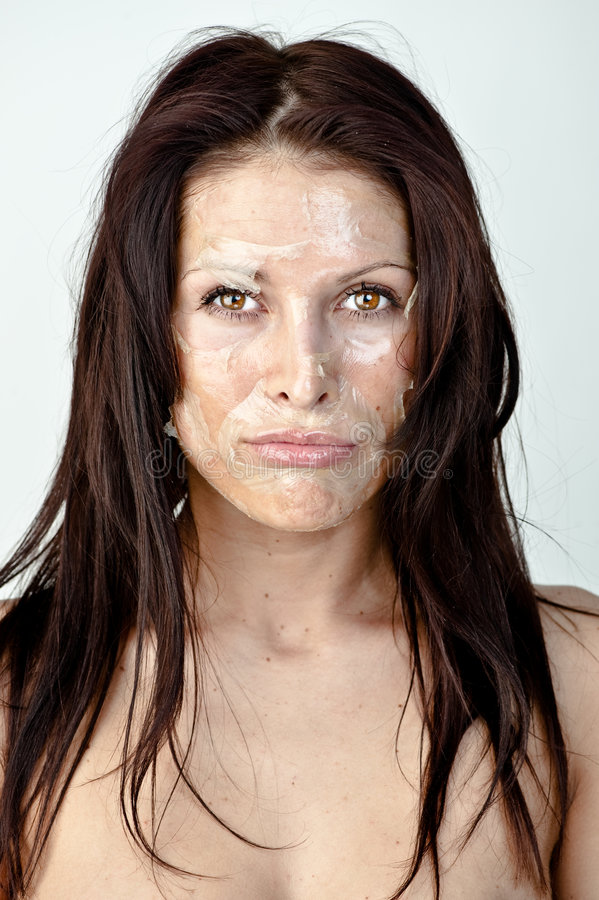 Woman with peeling skin stock photo