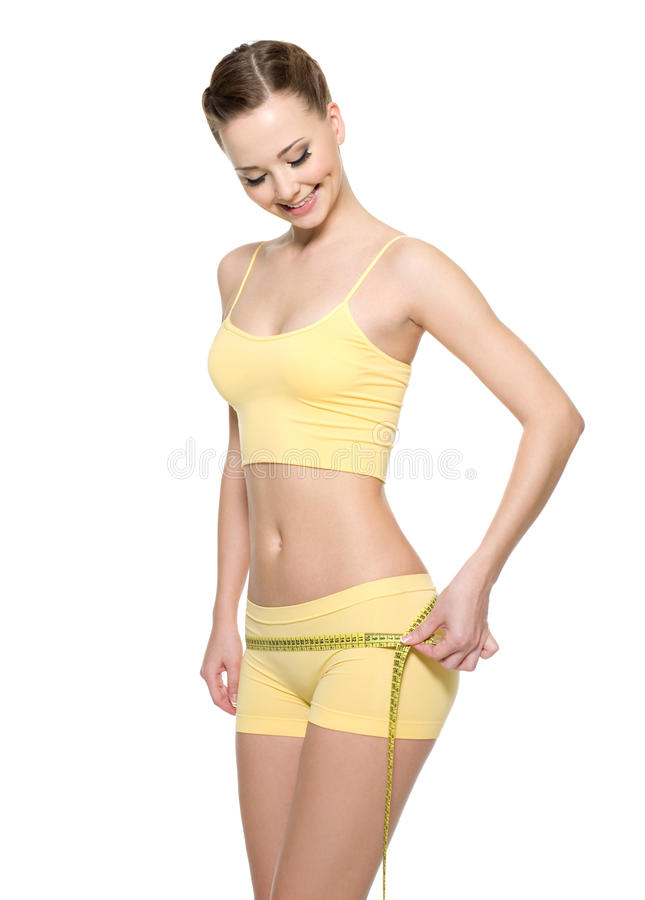 Download Woman With Perfect Body Measuring Buttocks Stock Image - Image: 17367547