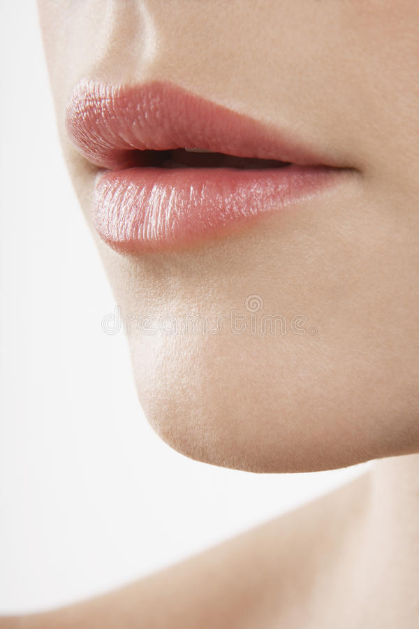 Woman With Perfect Lips stock photos
