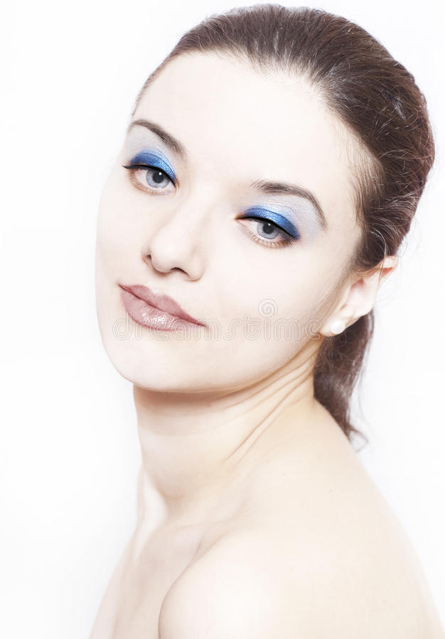 Woman with perfect skin royalty free stock photos