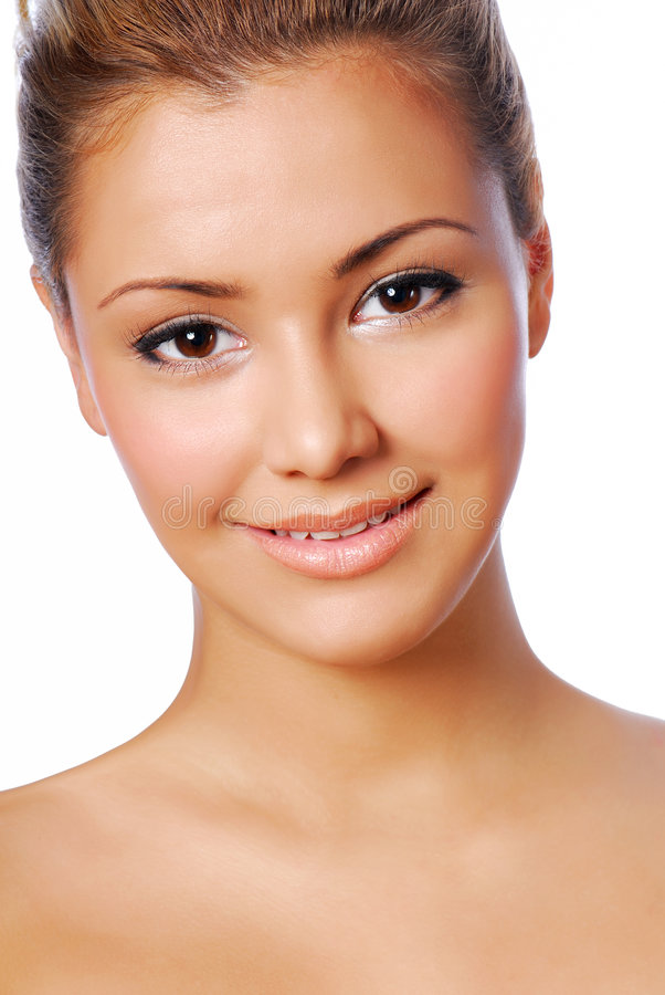 Woman with perfect skin stock photography