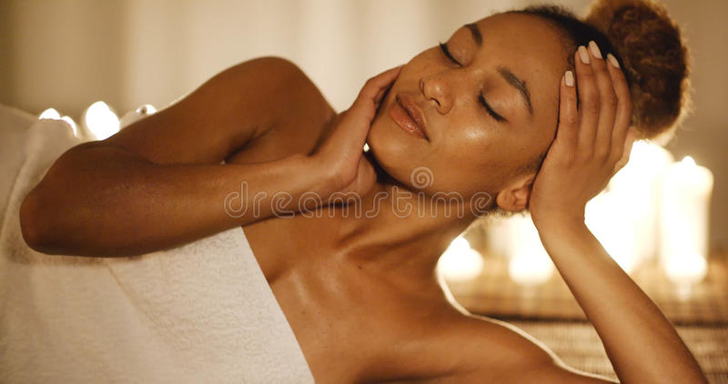 Woman With Perfect Skin And Face stock image