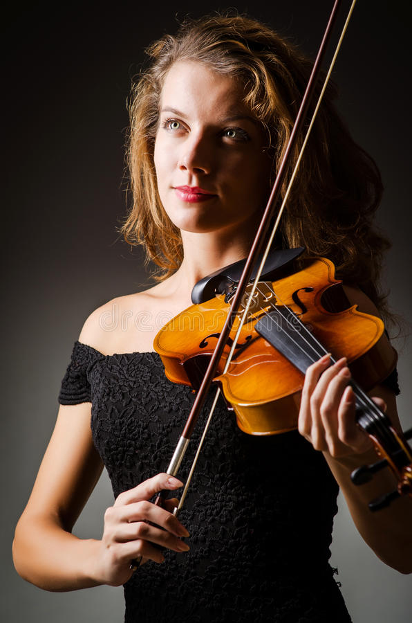 Download Woman Performer With Violin Stock Image - Image: 28350701