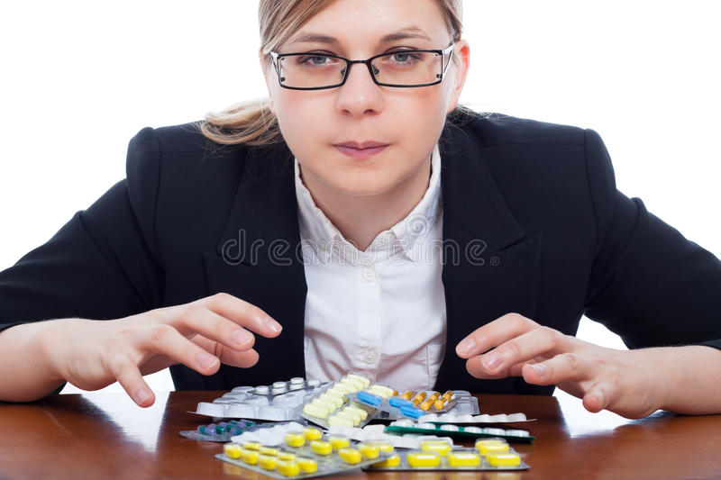 Download Woman and pharmaceuticals stock photo. Image of concept - 26521370