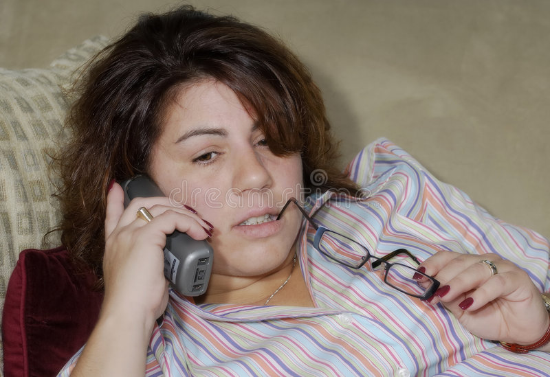Download Woman on The Phone stock image. Image of everday, telephone - 1361661