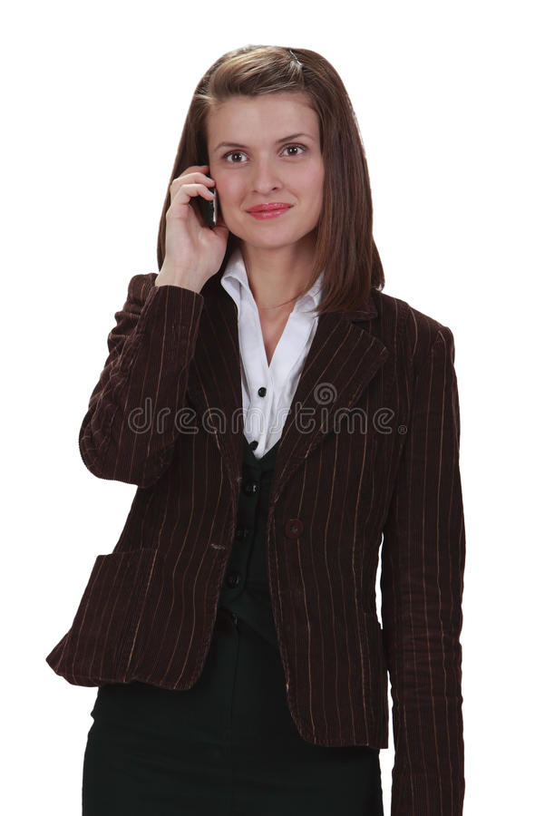 Download Woman on the phone stock image. Image of phone, people - 13949007