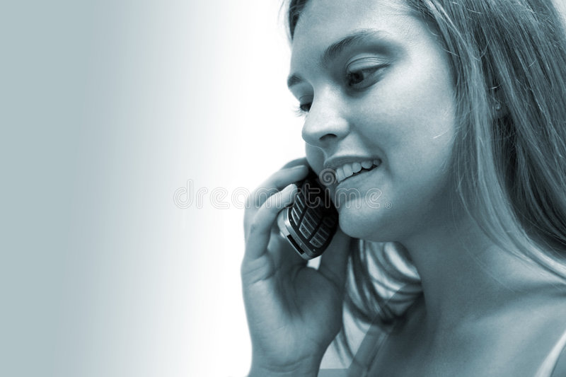 Download Woman on Phone stock image. Image of model, mouth, phone - 1413687