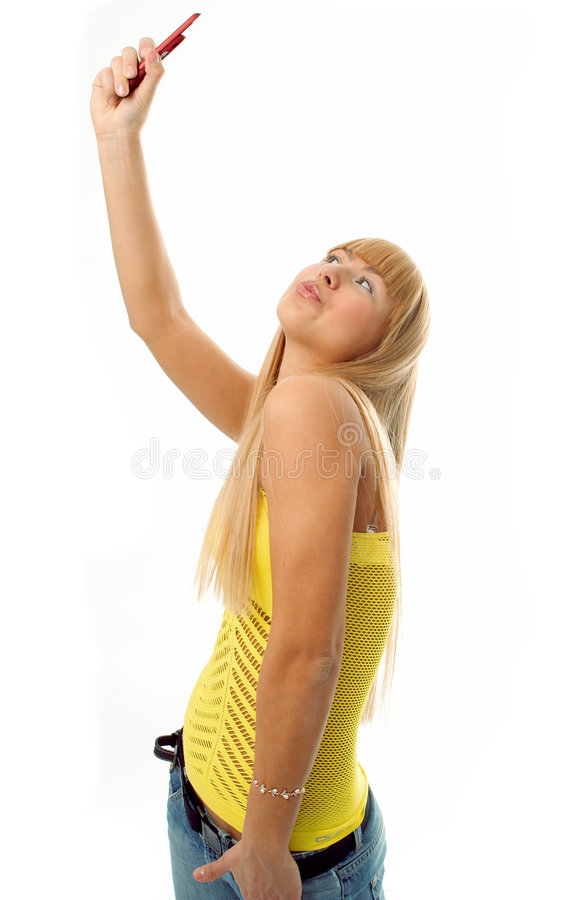 Woman Photograph Itself Stock Photos