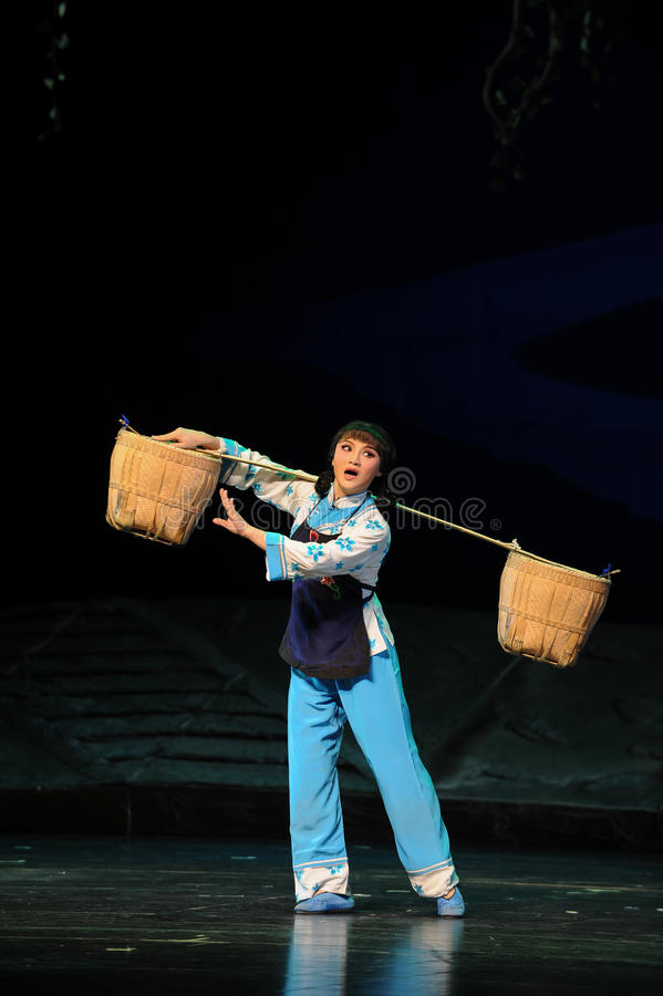The woman Pick a basket- Jiangxi opera a steelyard. Jiangxi opera a steelyard is adapted from a true story: the last century fortys, the protagonists father runs royalty free stock photos