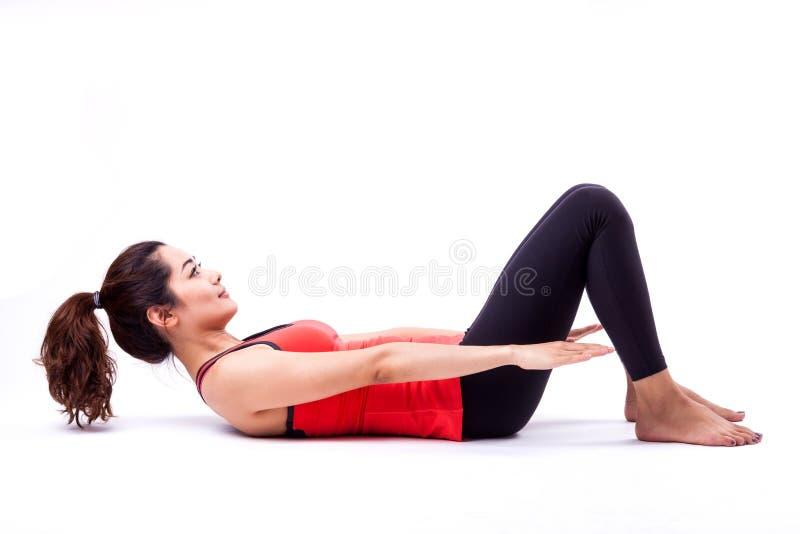 Pilates action stock image