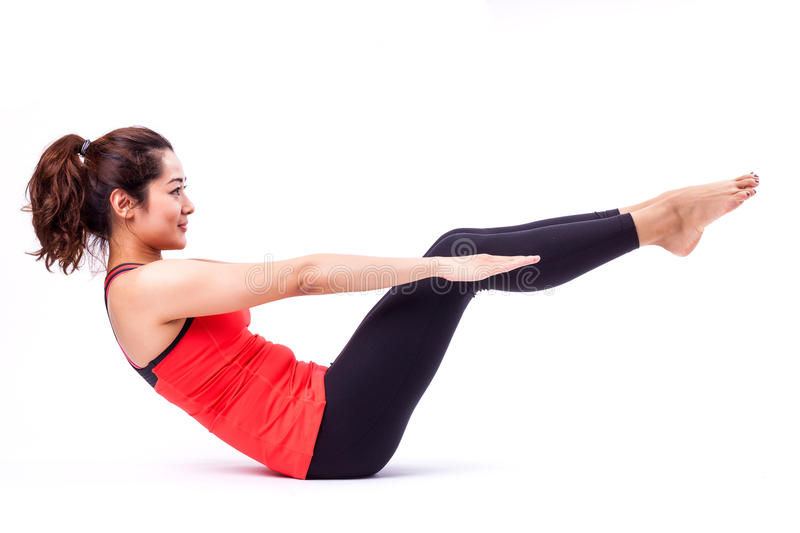 Pilates action royalty free stock images