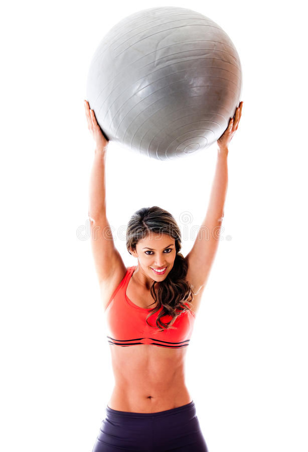 Download Woman with Pilates ball stock photo. Image of person - 24328250