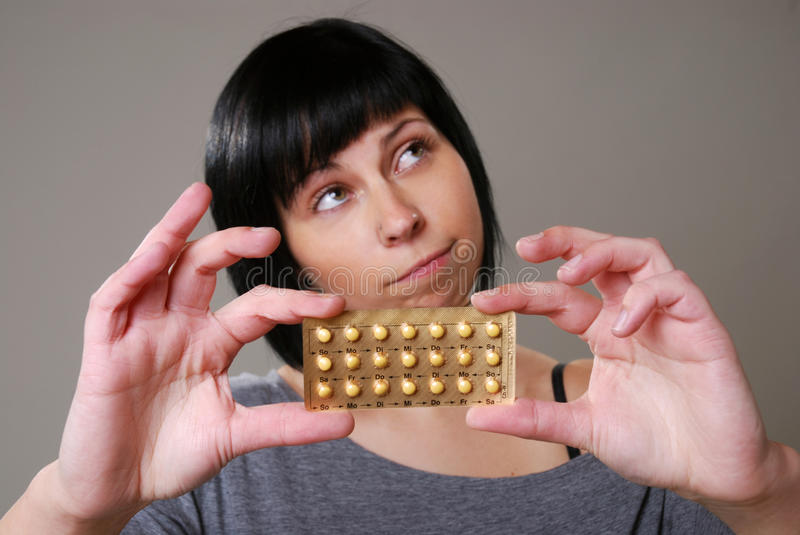 Download Woman with pill stock image. Image of model, frustrated - 24257159