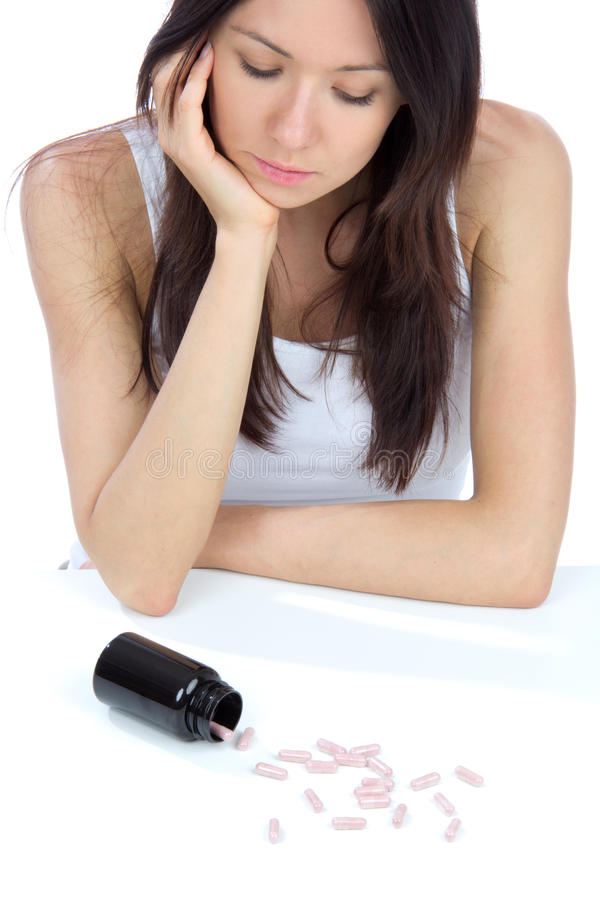 Download Woman With  Pills Medicine Tablets Stock Image - Image: 24508855