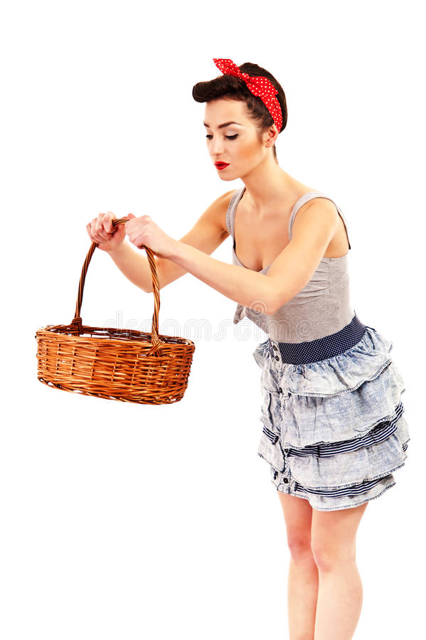 Woman In Pin-up Style Stock Image