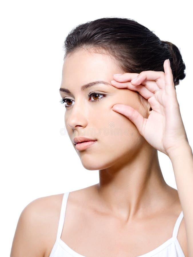 Free Woman Pinching Skin Near Her Eye Stock Images - 15239094