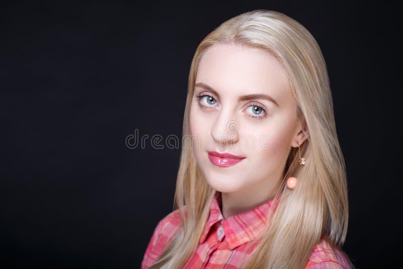 Woman pink blouse stock image