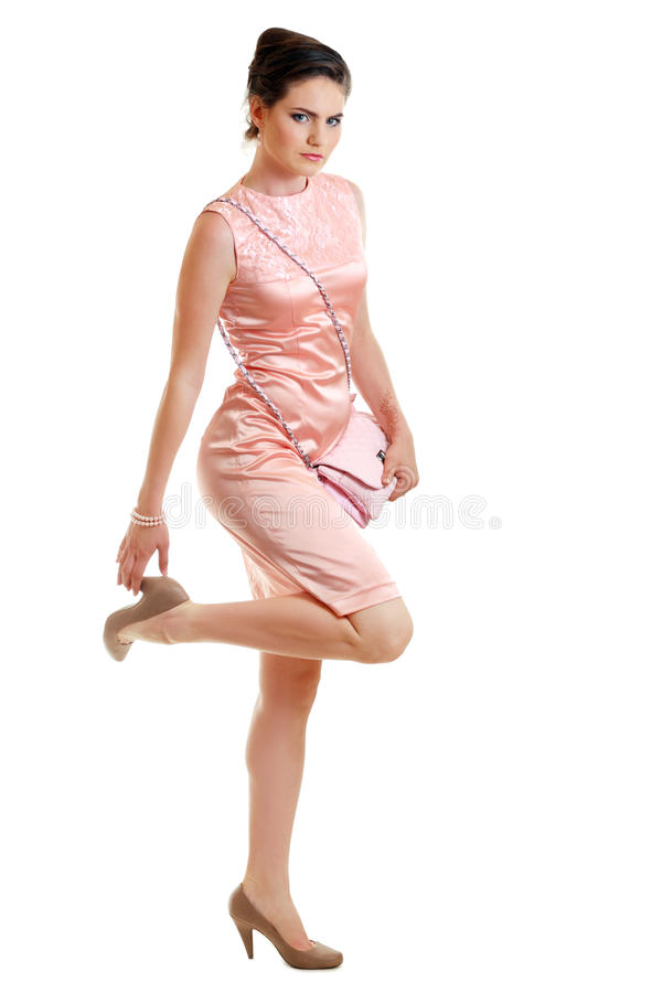 Download Woman In Pink Dress Stock Image - Image: 25496291