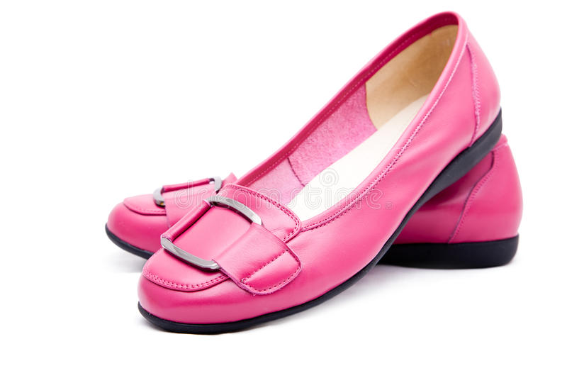 Woman Pink Shoes Royalty Free Stock Image