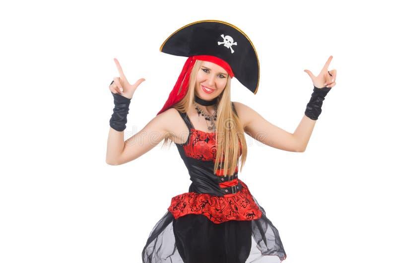 Woman pirate stock photo