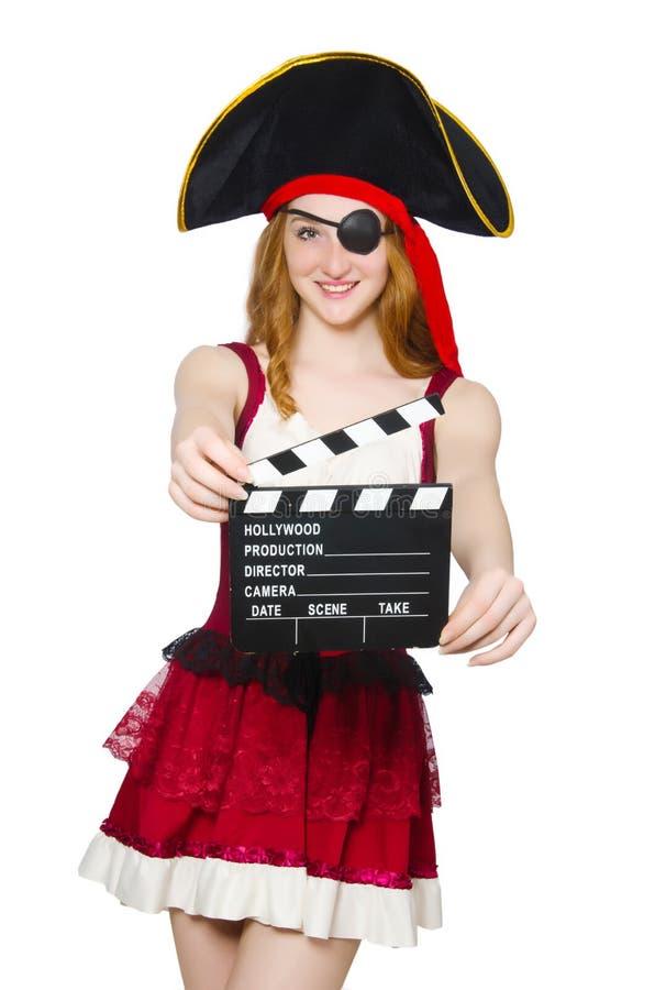 Woman pirate royalty free stock photo