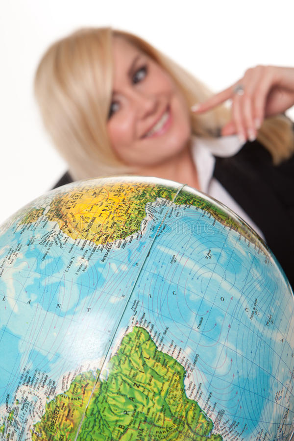 Download Woman Planning Her Dream Holiday Stock Image - Image: 24544071