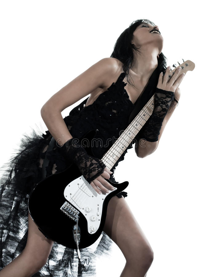 Download Woman Playing Electric Guitar Player Stock Photo - Image: 23923380