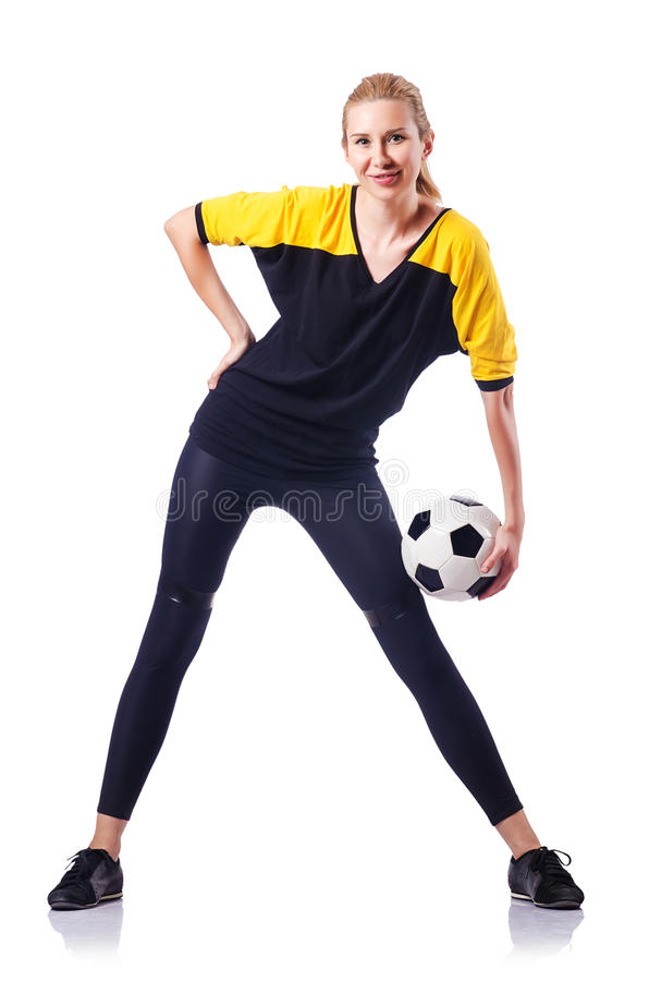 Download Woman playing football stock image. Image of cute, health - 27493085