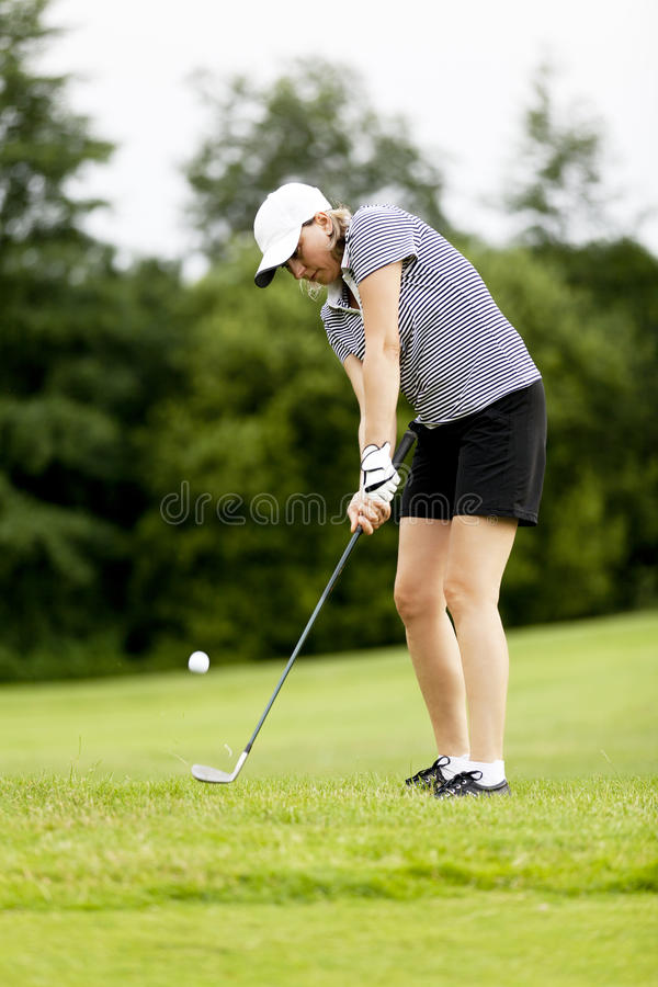 Download Woman Is Playing Golf On Course  Summer Stock Photo - Image: 25535904