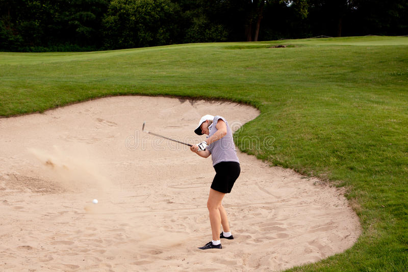 Download Woman Is Playing Golf On Course  Summer Stock Photo - Image: 25536172