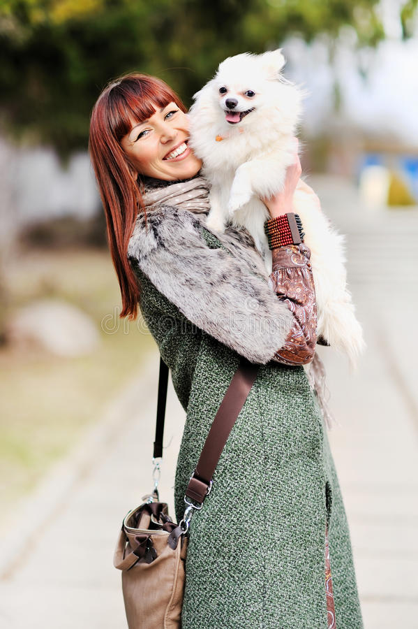 Download Woman Playing With Her Puppy Stock Image - Image: 24308009