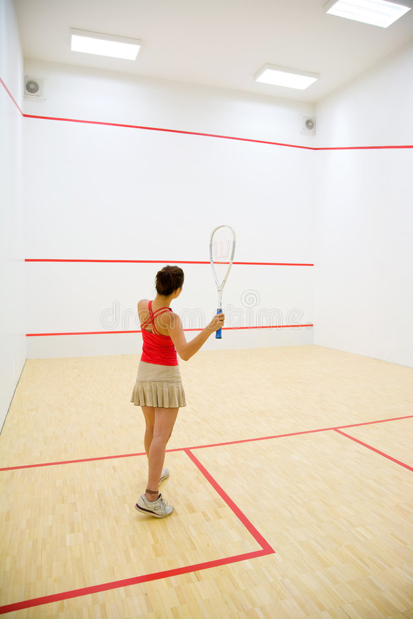 Free Woman Playing Squash Royalty Free Stock Photo - 4474595