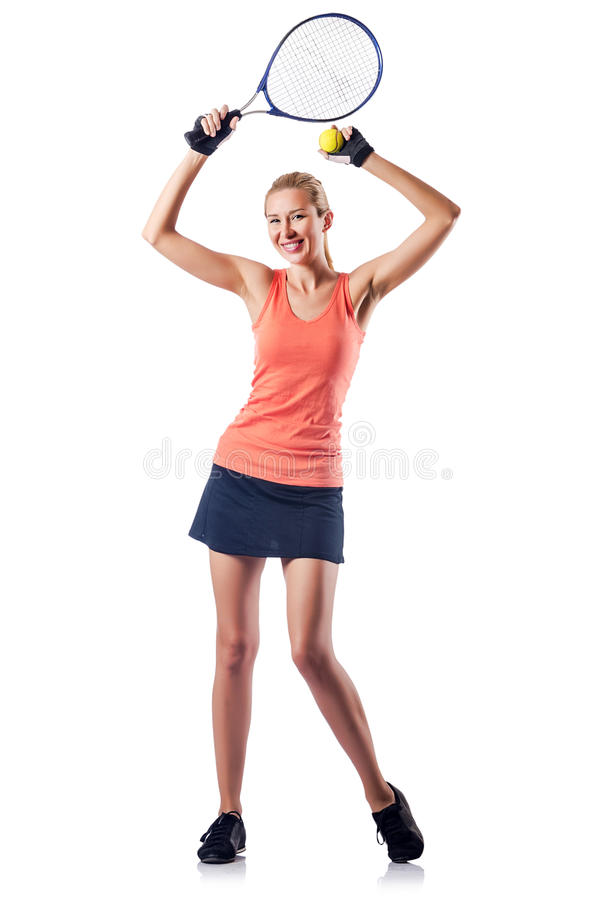 Download Woman Playing Tennis Stock Photo - Image: 27494130