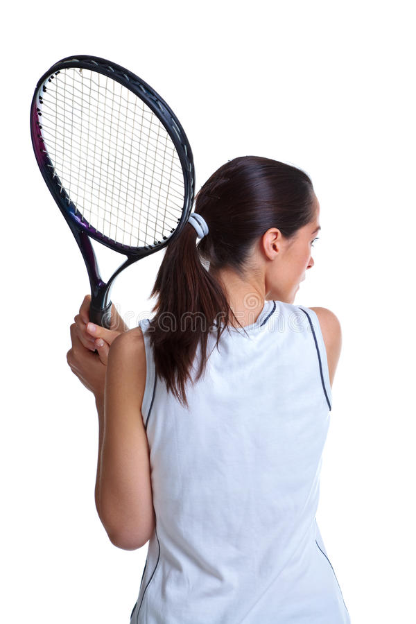 Download Woman Playing Tennis Isolated Stock Image - Image of raquet, player: 13494567