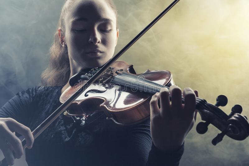 Playing the violin royalty free stock photo
