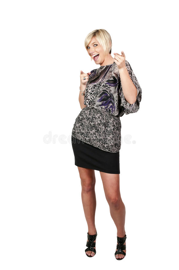 Download Woman pointing fingers stock image. Image of business - 21472113