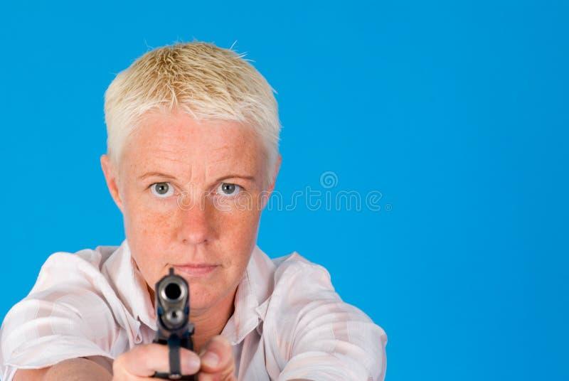 Download Woman Pointing Gun Royalty Free Stock Images - Image: 4719619