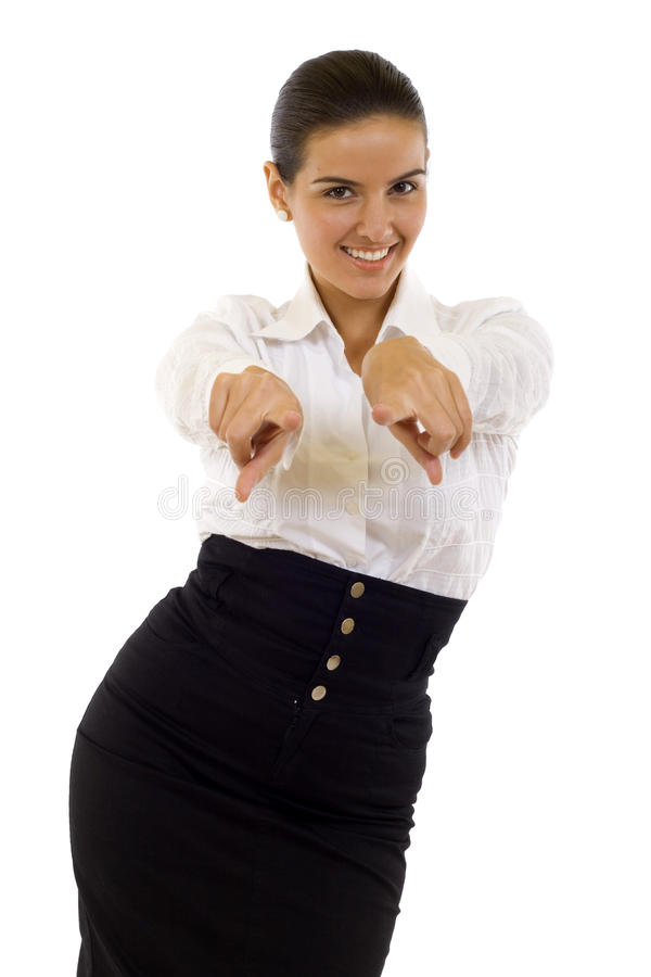 Woman Pointing To You Royalty Free Stock Images