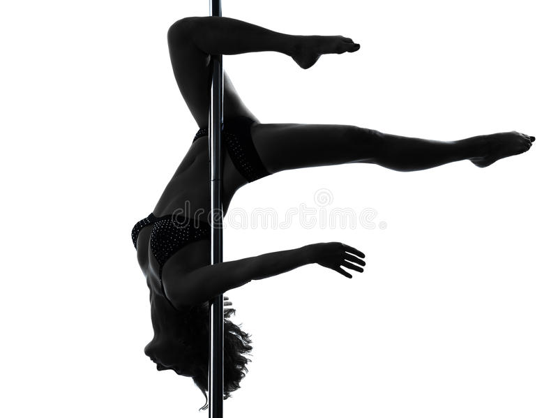 Download Woman Pole Dancer Scorpion Posture Silhouette Stock Image - Image: 27746031