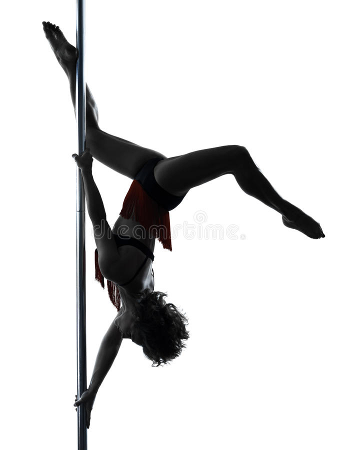 Woman Pole Dancer Silhouette Stock Image - Image of go ...