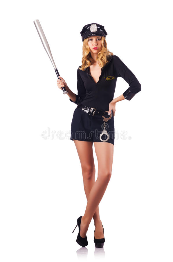 Download Woman police stock image. Image of beauty, girl, hitting - 28031231