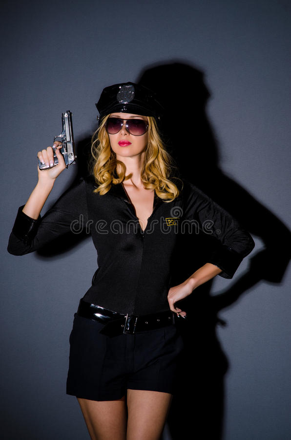 Download Woman police  concept stock image. Image of girl, handcuffs - 26630739