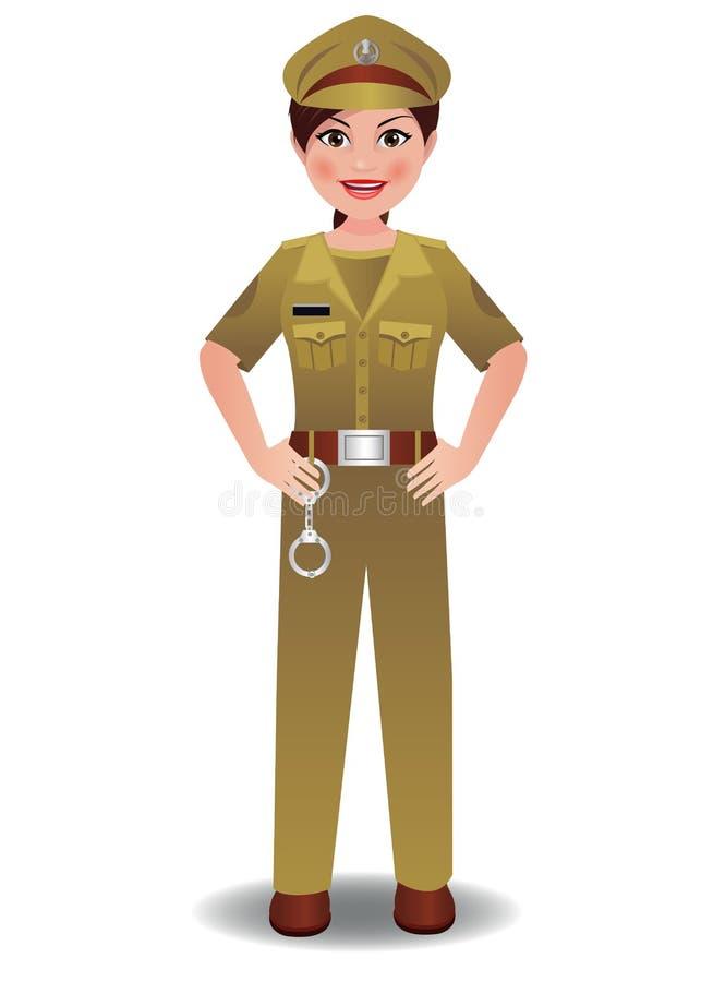 Woman_Police_Indian ilustracja wektor